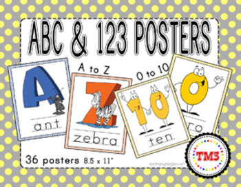 ABCs & 123s Posters
