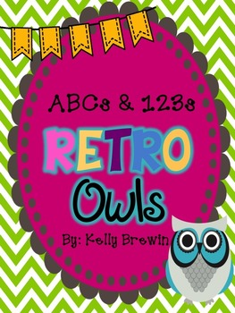 ABCs & 123s Retro Owls & Chevron Set