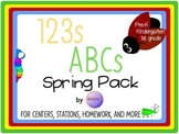 ABCs 123s Spring Pack from Pre-K to First Grade