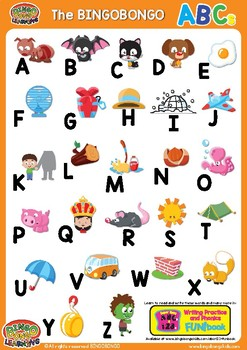ABCs Alphabet Classroom Poster Uppercase - Colorful ESL/EFL Phonics Word Charts