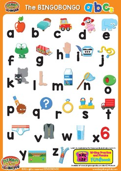 ABCs Alphabet Classroom Poster lowercase - Colorful ESL/EFL Phonics Word Charts