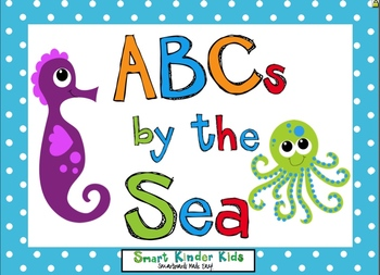 ABCs By the Sea for SMARTboard - Oceans of Alphabet Fun - BALL and STICK Font