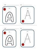 ABC's Color and Trace Flash Cards