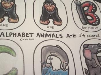 ABCs Fun Animal Alphabet Size 3.25 Inches