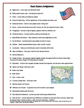 ABCs List for State Reports or Books