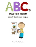 ABCs Master Menu -- Letter of the Week Curriculum Planning Guide