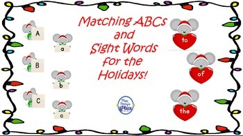 ABCs Match and Sight Words for the Holidays