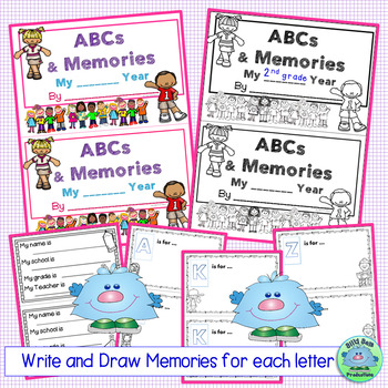 End of Year Memory Book! ABC's & MEMORIES! Half-Page Version