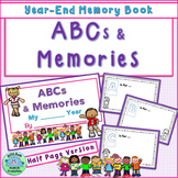 End of Year Memory Book ABCs & MEMORIES! Half-Page Version