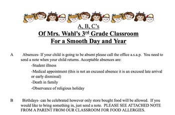 ABC's Of the Classroom