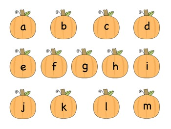 ABCs Pumpkin File Folder Game
