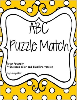 ABCs Puzzle Match Cards