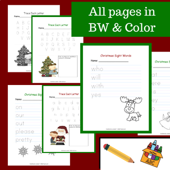 ABCs & Sight Words for Kindergarten - December and Christmas