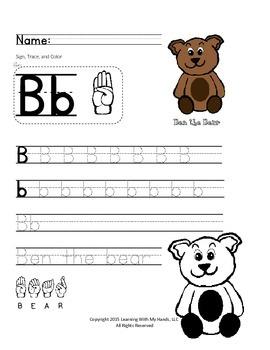 ABC's & Sign Language Practice Worksheets