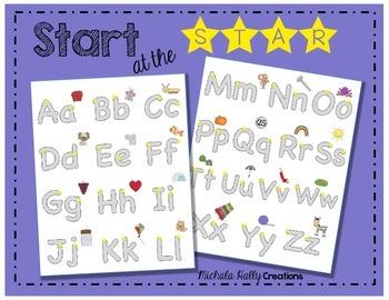 FREEBIE Alphabet Practice - Start at the STAR!