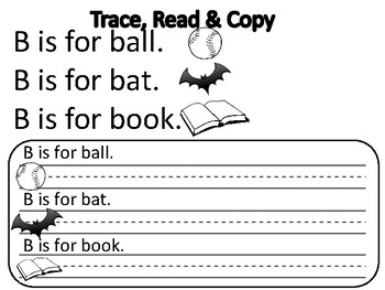 ABCs Trace, Read, Copy