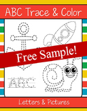 ABCs Trace and Color (NO PREP) - FREEBIE