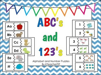 ABC's and 123's Alphabet and Number Puzzles