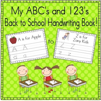 ABC's and 123's Practice Book (School Themed)