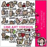 ABCs clip art - LINE ART - by Melonheadz