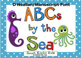 ABCs by the Sea - Oceans of Alphabet Fun - MANUSCRIPT D'NEALIAN FONT