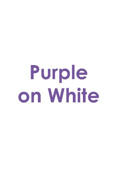 ABCs for Special Children: Purple on White, Green on White
