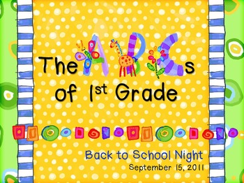 Abcs of 1st grade back to school night powerpoint template tpt abcs of 1st grade back to school night powerpoint template toneelgroepblik Gallery