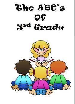 ABC's of 3rd Grade Back to School Brochure Printable