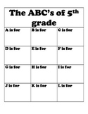 ABC's of 5th Grade - End of Year Booklet