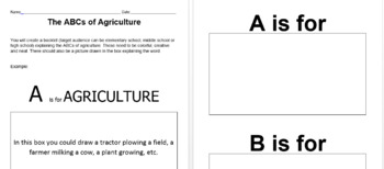 ABCs of Agriculture Assignment