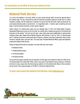 National Parks Handwriting Printables (Manuscript Edition)