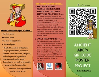 ABC's of Ancient Civilizations QR Code Poster Project