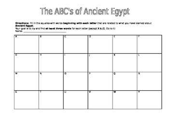 ABC's of Ancient Egypt