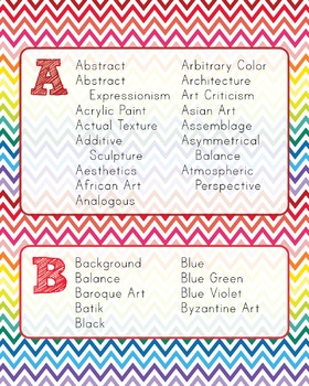 ABCs of Art Chevron