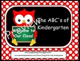 ABC's of Back to School Owls for ActivBoard