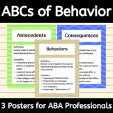 ABCs of Behavior - ABA Therapy Posters - Antecedents, Beha