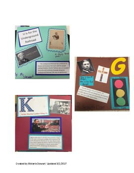 ABCs of Black History Class Project