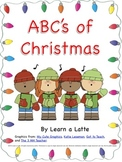 "ABC's of Christmas Book (Secular Version in Color, B&W, and ""Make Your Own"")"
