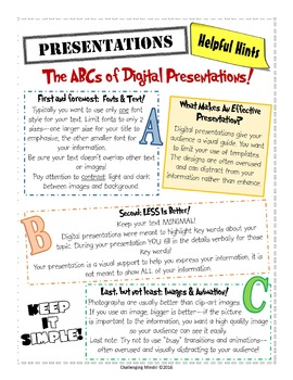 ABCs of Digital Presentations! - Presentation Pointers Guide