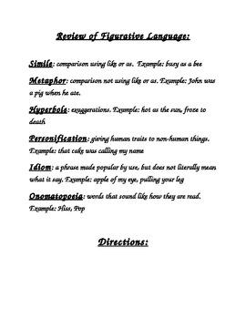 ABCs of Figurative Language Book