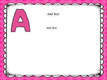 ABC's of First Grade (Editable PPT)