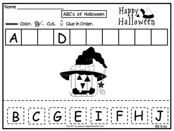 ABC's of Halloween - Kindergarten
