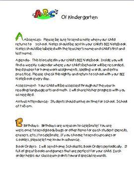 ABC's of Kindergarten