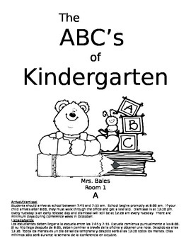 ABC's of Kindergarten BOY