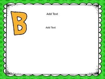 ABC's of Kindergarten (Editable PPT)