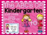 ABC's of Kindergarten {Editable}