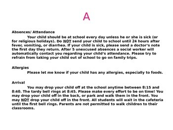 ABCs of Kindergarten Parent Orientation Presentation