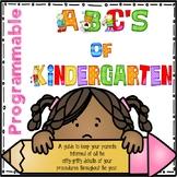 ABC's of Kindergarten - Programmable