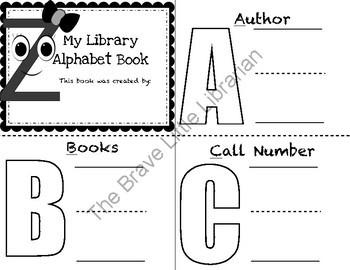 ABCs of Library Terms Pre-K & Kindergarten