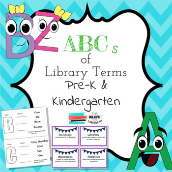 ABCs of Library Terms Pre-K & Kinder